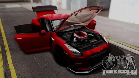 Nissan GTR Nismo 2015 для GTA San Andreas вид справа