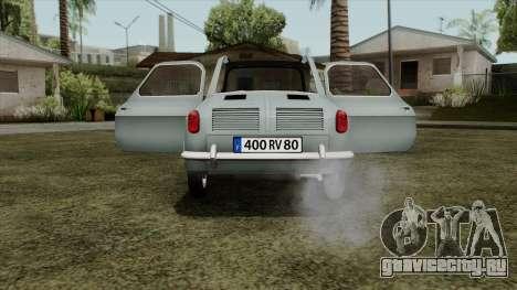 Vespa 400 для GTA San Andreas вид справа