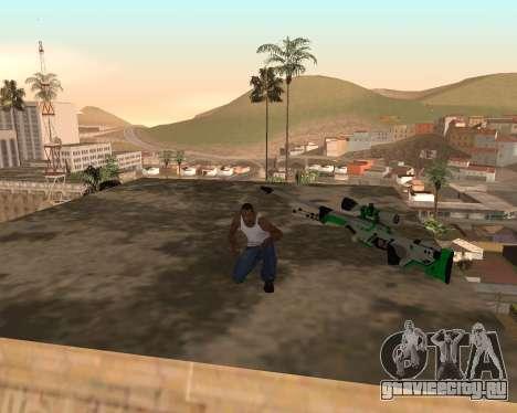 Green Pack Asiimov CS:GO для GTA San Andreas второй скриншот