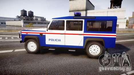 Land Rover Defender Policia PSP [ELS] для GTA 4 вид слева