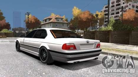 BMW 750i e38 1994 Final для GTA 4 вид снизу