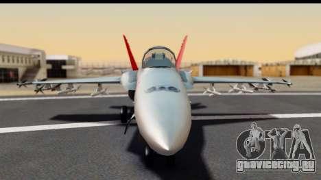 McDonnell Douglas FA-18C Hornet VMFA-232 USMC для GTA San Andreas вид сзади