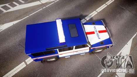 Land Rover Defender Policia PSP [ELS] для GTA 4 вид справа