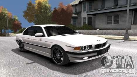 BMW 750i e38 1994 Final для GTA 4 двигатель