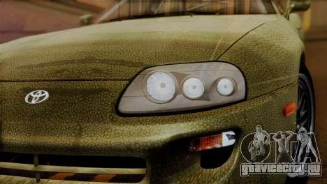 Toyota Supra Turbo (JZA80) 1998 FF7 Edition для GTA San Andreas вид сзади