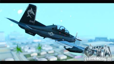 Beechcraft T-6 Texan II United States Navy 2 для GTA San Andreas вид слева