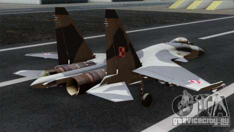 SU-37 Flanker-F Polish Air Force для GTA San Andreas вид слева