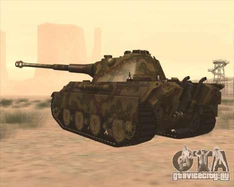 Pz.Kpfw. V Panther II Desert Camo для GTA San Andreas вид сзади слева