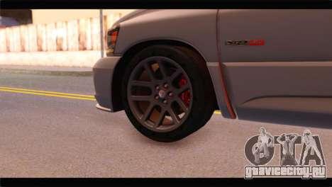 Dodge Ram SRT10 2006 Stock для GTA San Andreas вид сзади слева