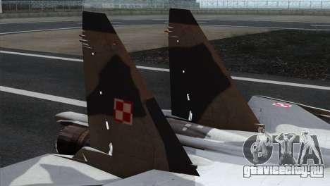 SU-37 Flanker-F Polish Air Force для GTA San Andreas вид сзади слева