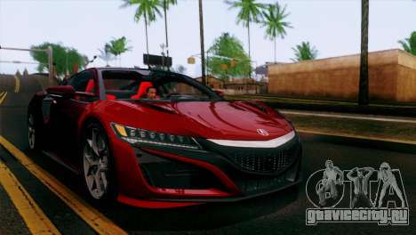 Acura NSX 2016 v1.0 JAP Plate для GTA San Andreas салон