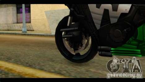 Honda CBR1000RR для GTA San Andreas вид сзади слева