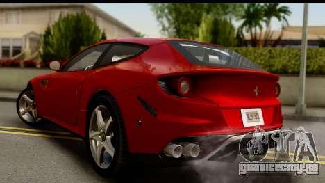 NFS Rivals Ferrari FF для GTA San Andreas вид слева