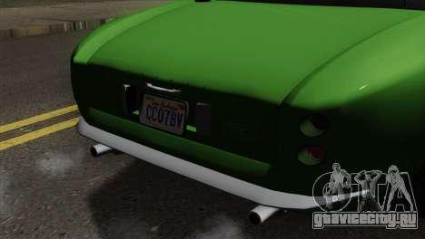 GTA 5 Grotti Stinger GT v2 для GTA San Andreas вид сзади