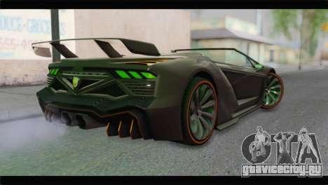 GTA 5 Pegassi Zentorno Spider для GTA San Andreas вид слева