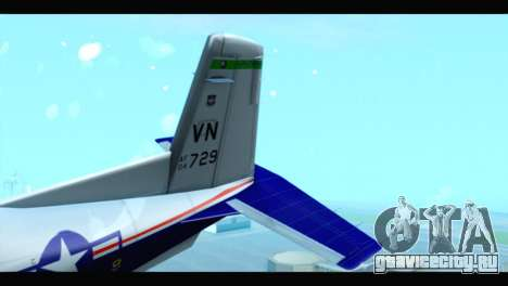 Beechcraft T-6 Texan II US Air Force 2 для GTA San Andreas вид сзади слева