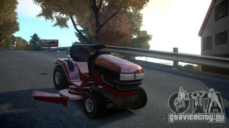 GTA V Lawn Mower для GTA 4 вид сзади