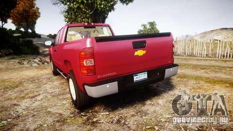 Chevrolet Silverado 1500 LT Extended Cab wheels1 для GTA 4 вид сзади слева