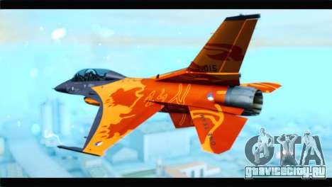 F-16D Fighting Falcon Dutch Demo Team J-015 для GTA San Andreas вид слева