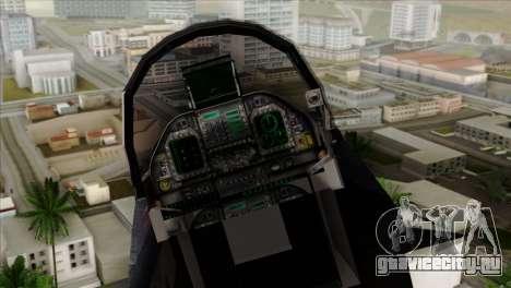 FA-18 HARV для GTA San Andreas вид сзади