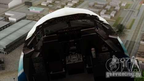 Boeing B737-800 Pilot Life Boeing Merge для GTA San Andreas вид сзади
