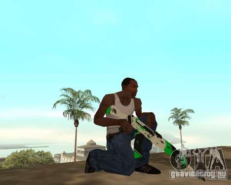 Green Pack Asiimov CS:GO для GTA San Andreas шестой скриншот