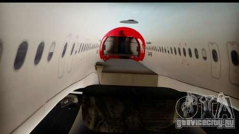 Airbus A320-200 OLT Express для GTA San Andreas вид изнутри