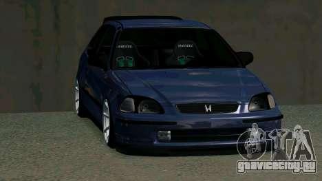 Honda Civic EK9 для GTA San Andreas вид изнутри