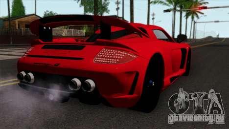 Gemballa Mirage GT v3 Windows Down для GTA San Andreas вид слева