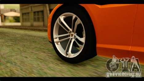 Lamborghini Estoque для GTA San Andreas вид сзади слева