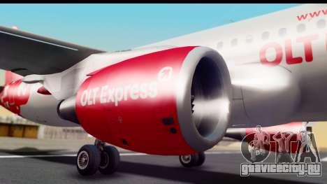 Airbus A320-200 OLT Express для GTA San Andreas вид сзади