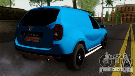 Dacia Duster Van для GTA San Andreas вид слева