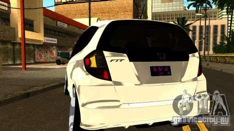 Honda Fit Sport 2009 для GTA San Andreas вид изнутри