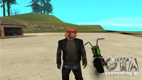 Zombie для GTA San Andreas вид сзади слева