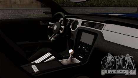 Ford Shelby 2014 для GTA San Andreas вид сзади слева