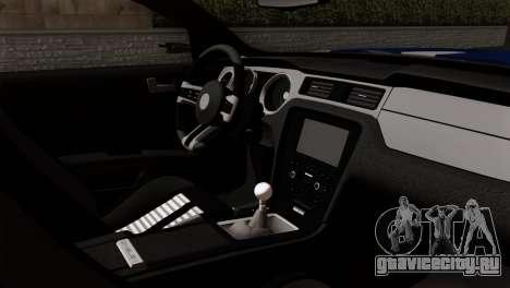 Ford Shelby 2014 для GTA San Andreas вид сзади слева