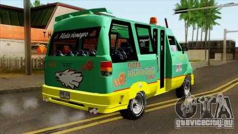 Toyota Microbus v2 для GTA San Andreas вид слева