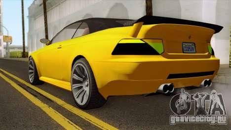 GTA 5 Ubermacht Zion XS Cabrio для GTA San Andreas вид слева