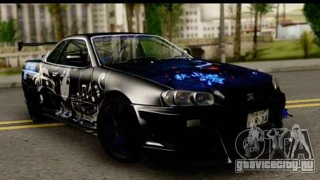 Nissan Skyline GT-R BNR34 Mio Akiyama Itasha для GTA San Andreas