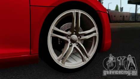 Audi R8 v2 для GTA San Andreas вид сзади слева