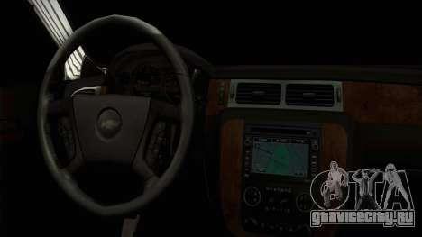 Chevrolet Suburban Plateada для GTA San Andreas вид справа