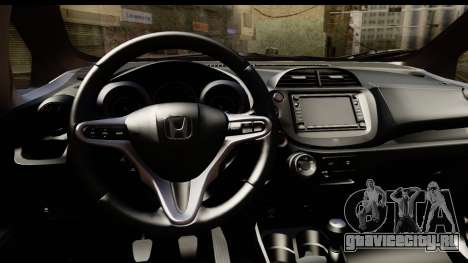 Honda Fit Sport 2009 для GTA San Andreas вид сзади