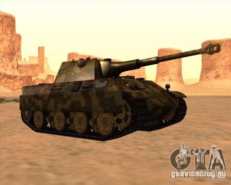 Pz.Kpfw. V Panther II Desert Camo для GTA San Andreas вид сбоку