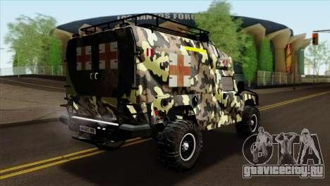 HMMWV M997 Ambulance для GTA San Andreas вид слева