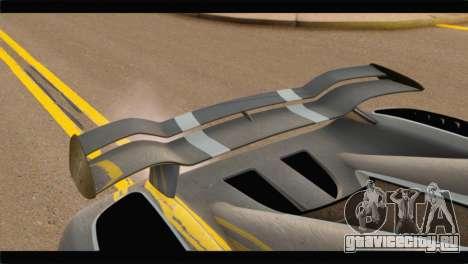 Koenigsegg Agera R 2011 Stock Version для GTA San Andreas вид сзади