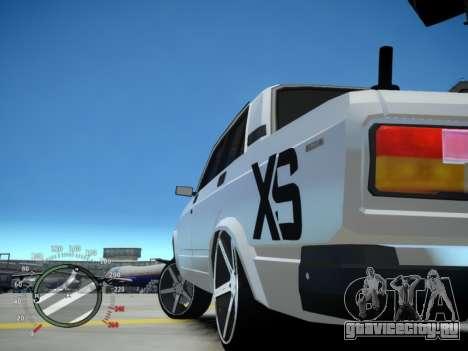 VAZ 2107 Aze для GTA 4 вид сзади слева