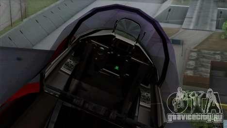 Eurofighter Typhoon 2000 для GTA San Andreas вид сзади