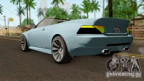 GTA 5 Ubermacht Zion XS Cabrio IVF для GTA San Andreas вид слева