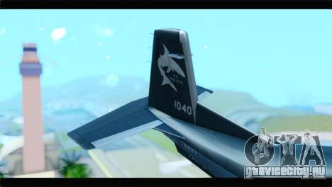 Beechcraft T-6 Texan II United States Navy 2 для GTA San Andreas вид сзади слева