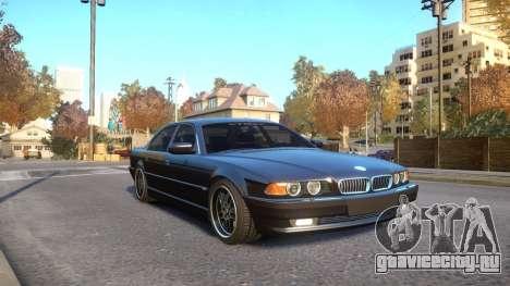 BMW 750i e38 1994 Final для GTA 4 вид сзади